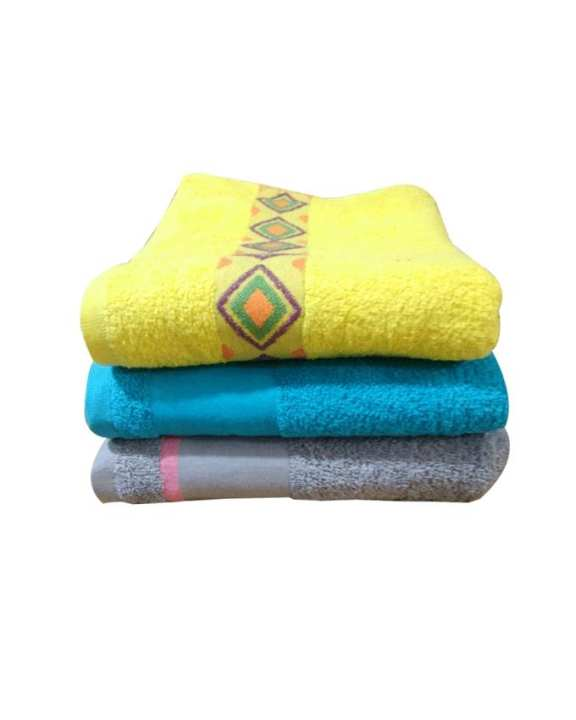 Pack of 3 Face Towels Multi Colours
