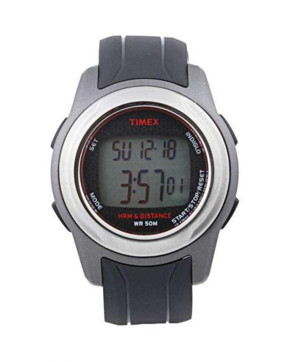 Black Rubber Sports Health Touch Plus Heart Rate Wrist Watch (Model no: T5K560)