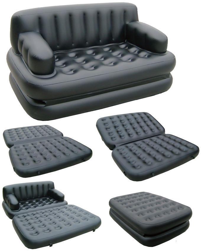 Air O Sofa Cum Bed - 5 in 1 - Black