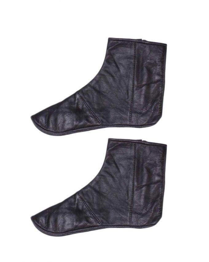 Black Leather Socks For Men & Women