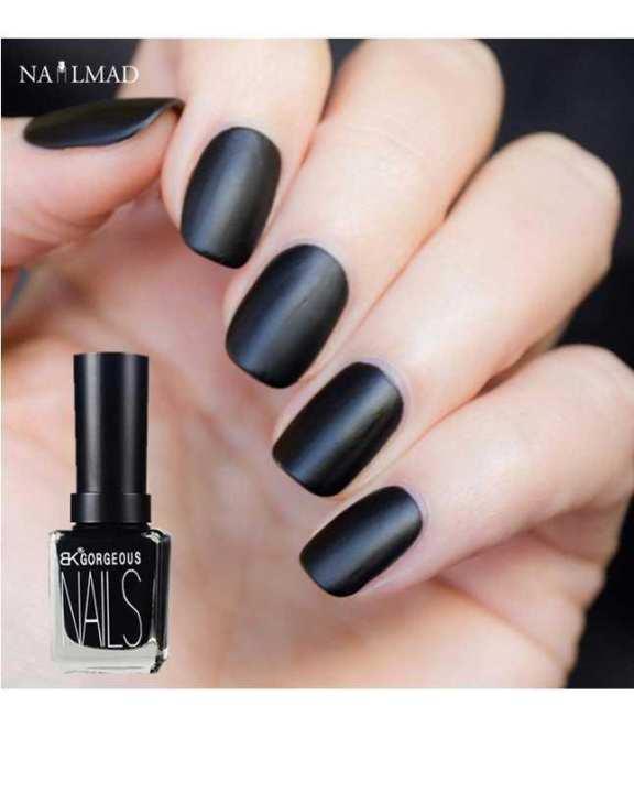 Rose Matte Black Nail Polish