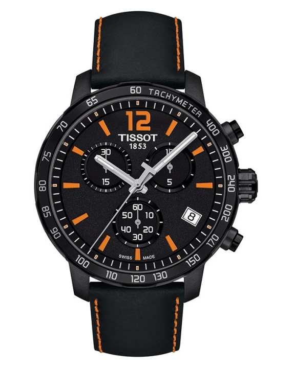 Tissot Black - Leather - Wrist Watch For Men