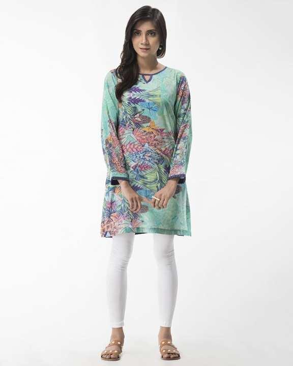 Cootie Forest Digital Print - 1 PCS - Stitched Long Shirt
