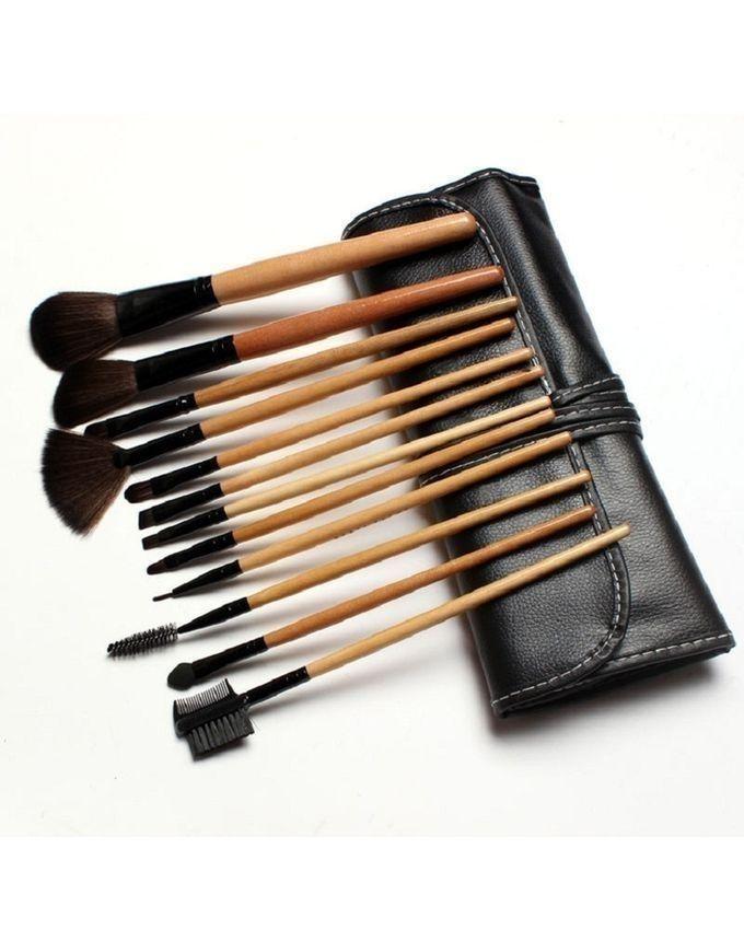 Professional Makeup Brush Set with Bag - 12pcs