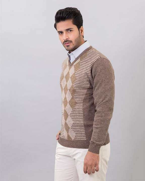 Br-Sugar Lambs Wool Sweater For Men