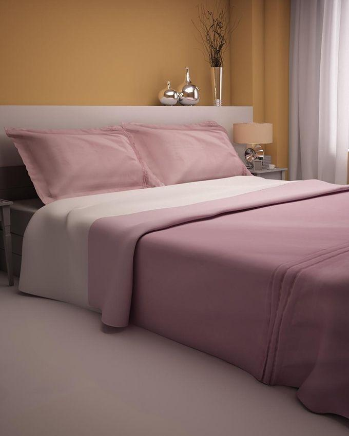 Purple Cotton & Satin King Size Duvet With Pillow Covers