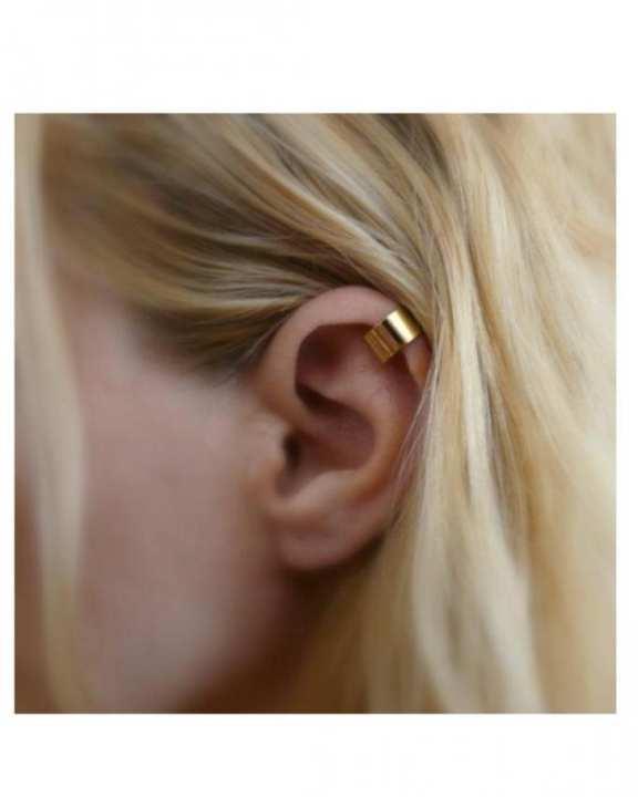 Simple Ear Clip Earring - Golden