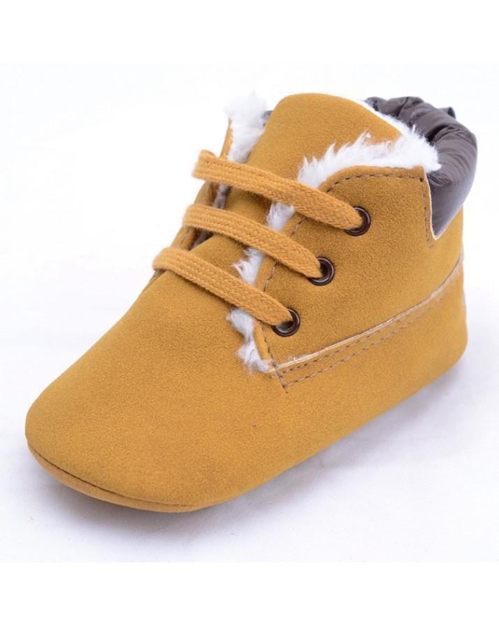 High-Top Sneaker Toddler Anti Slip Warm Boots - 6-12 Months
