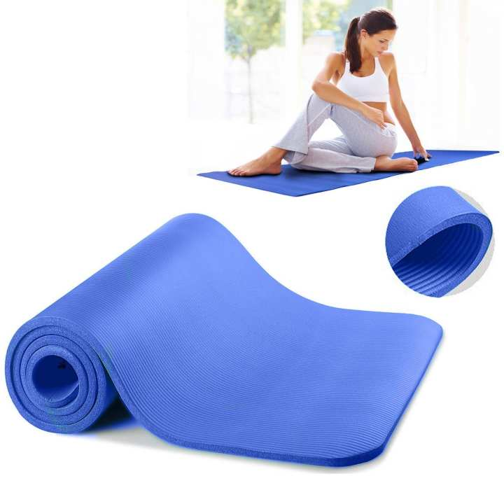 Non-Slip Yoga Mat - 8mm - Blue