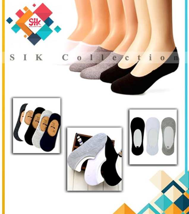 Pack of 6 - Loafer Imported Low Cut Non Slip Socks For Women