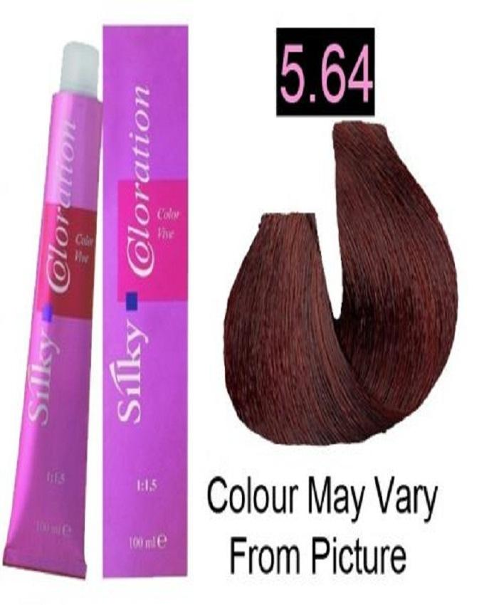 Silky 5645rc Permanent Hair Color 100ml Light Red Copper Brown