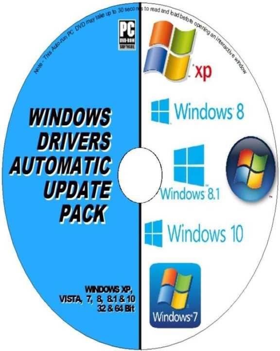 DRIVERS AUTOMATIC UPDATE PACK DVD WINDOWS XP VISTA 7 8 10