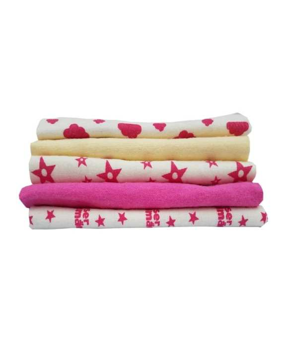 Pack Of 5 - Molton Cloth - Pink