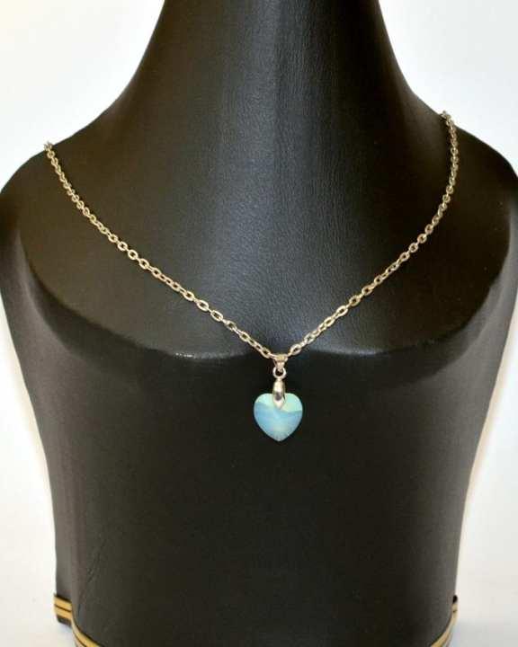 Opal Swarovski XILION Heart Pendant