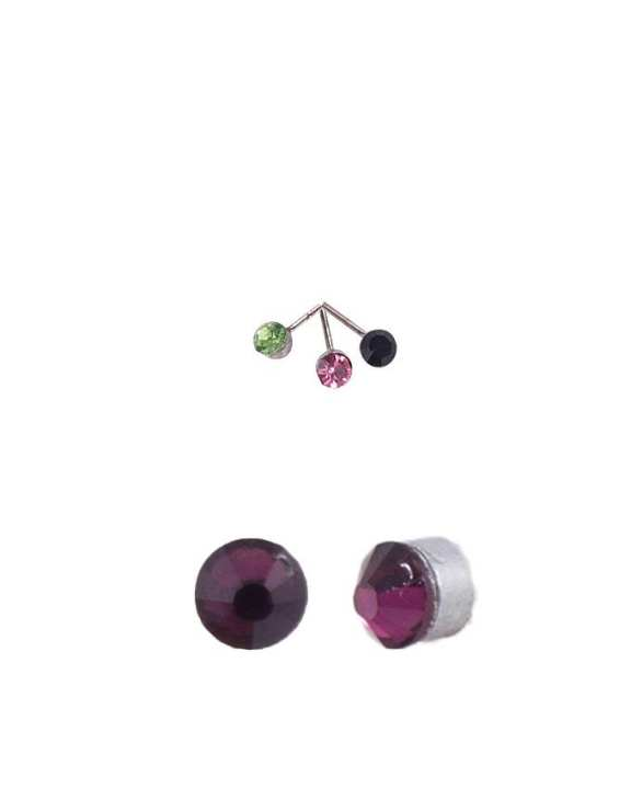 Pack of 4 Multicolour Alloy Nose Pin for Women