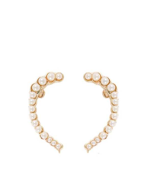 White Mix Metal Pearls Earcuffs (1 piece only)