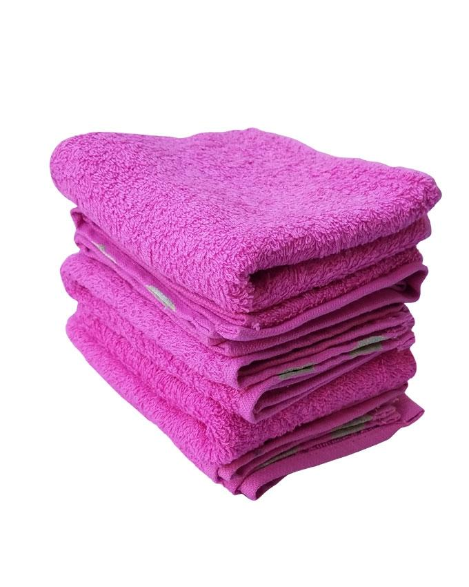 Pack of 5 - Zig Zag Towel - Pink