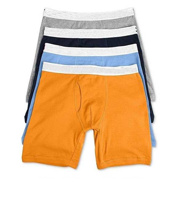 Pack of 4 - Multicolor Cotton Boxer Underwear for Men
