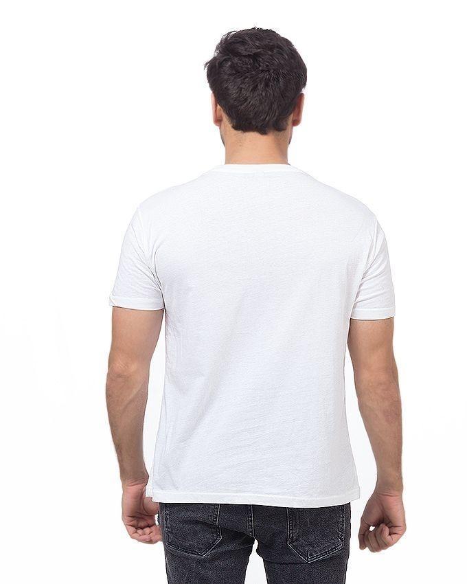 White Cotton Tshirt For Men