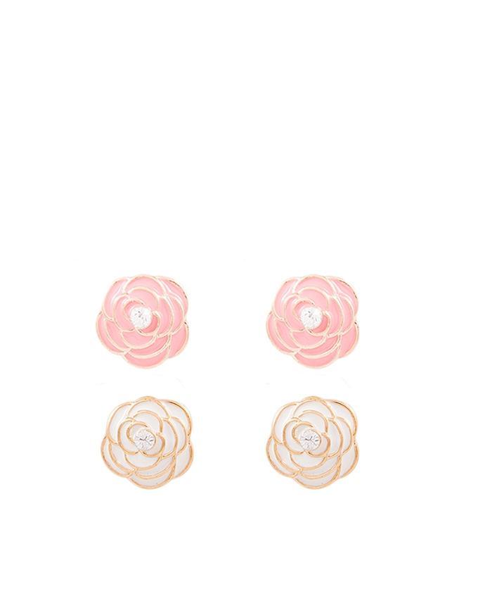 Pack of 2 - Rose Flower Earrings