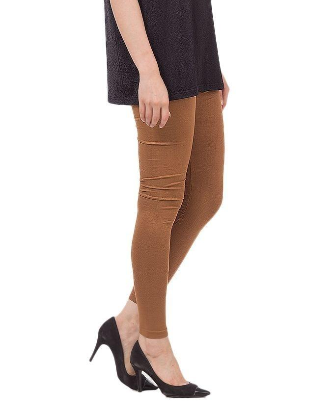 Brown Cotton Tights for Women
