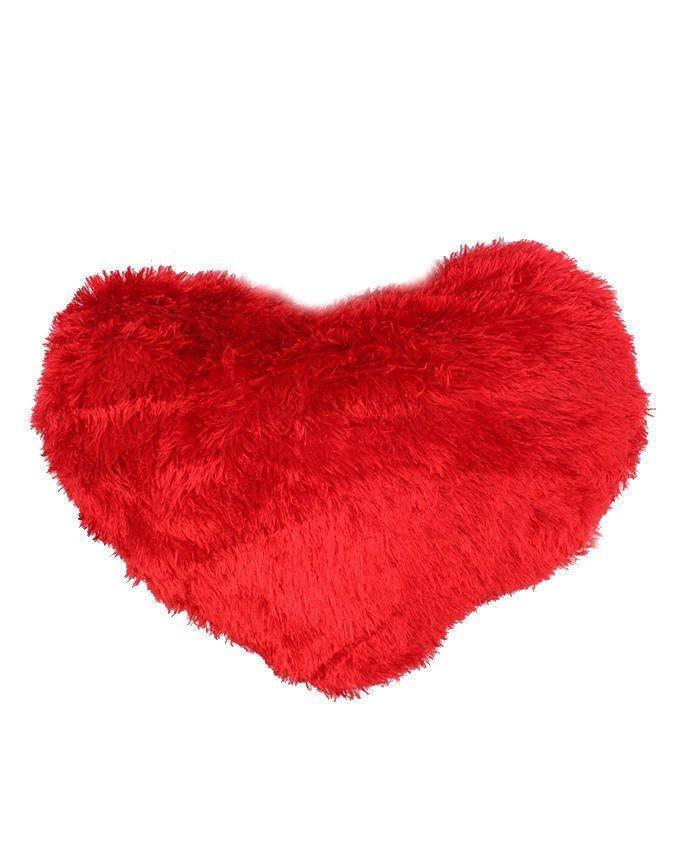 Love cushion Heart Shape - Red & White