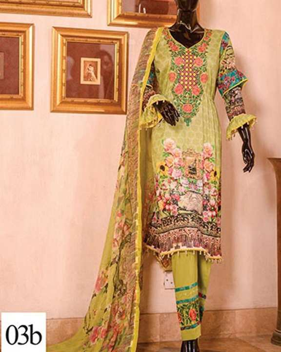 Multicolor Lawn Unstitched 3Pc EMB Lawn Collection