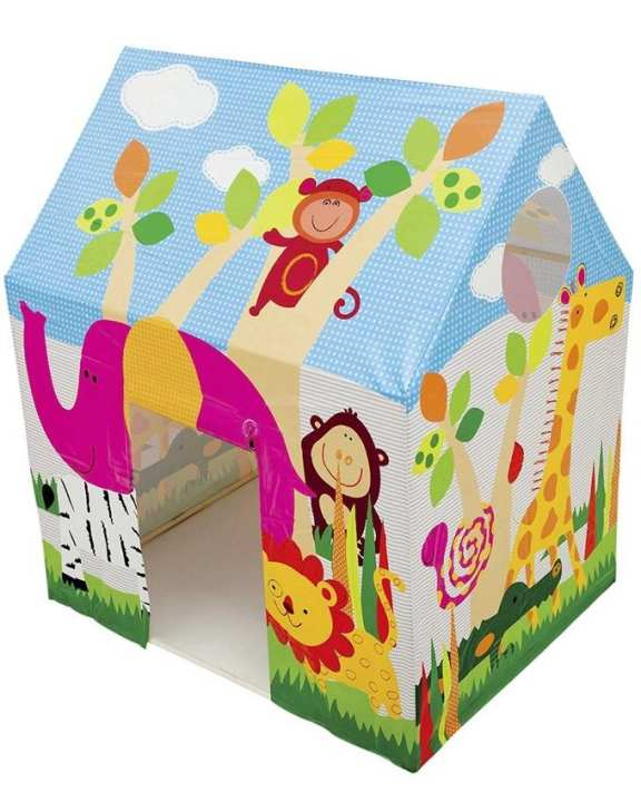 Jungle Fun Cottage Tent House - Wire Frame - Multicolor