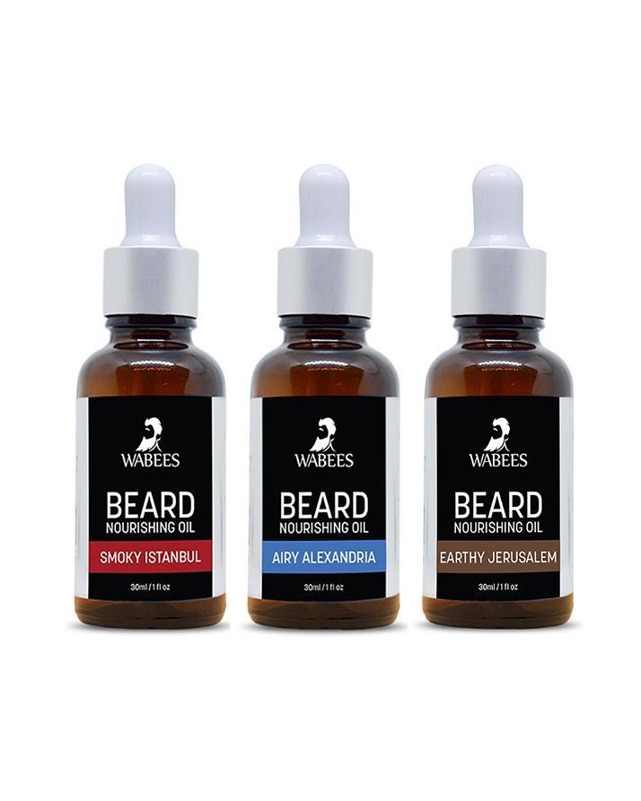 Wabees Set of 3 Beard Oils