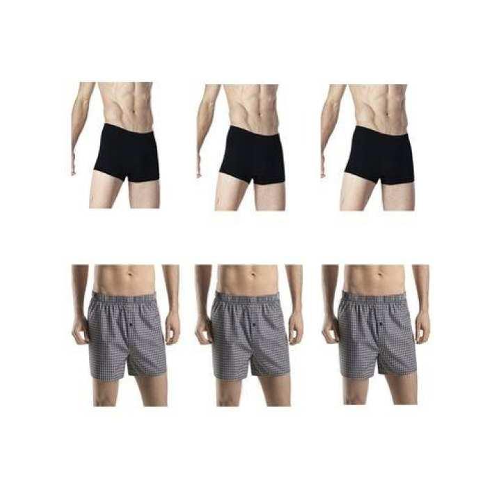 Pack Of 6 - Multicolour Cotton Boxer Shorts For Men