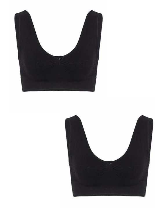 Pack of 2 - Black Nylon Air Bra for Women