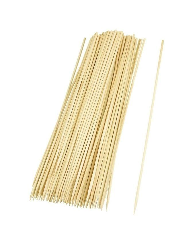 Barbecue Bamboo Sticks - 100 Pcs - Brown