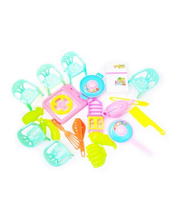 Mini Kitchen Set Toy - 20 Pcs - Multicolor