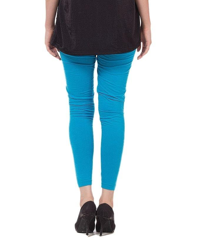 Light Blue Cotton Tights For Women