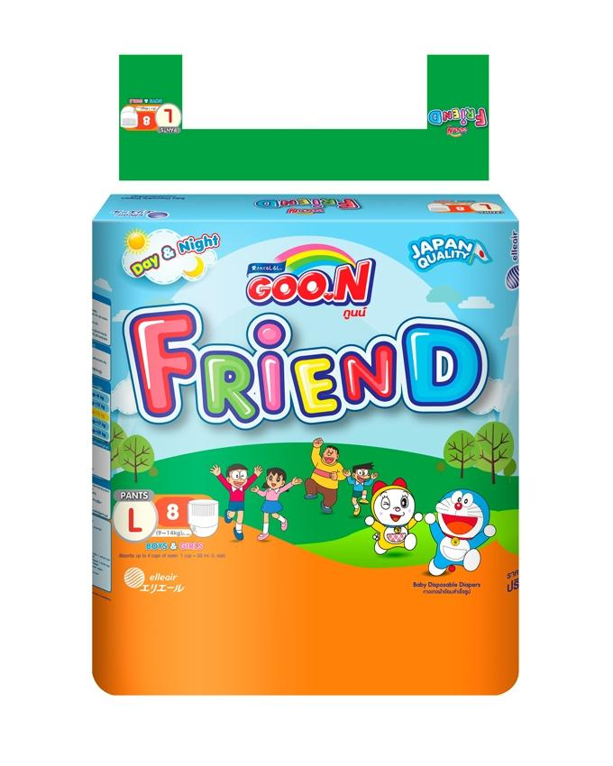 Regular Friend Doraemon Pants (Size 4 / Large / 9-14 KG / 8 Pcs)
