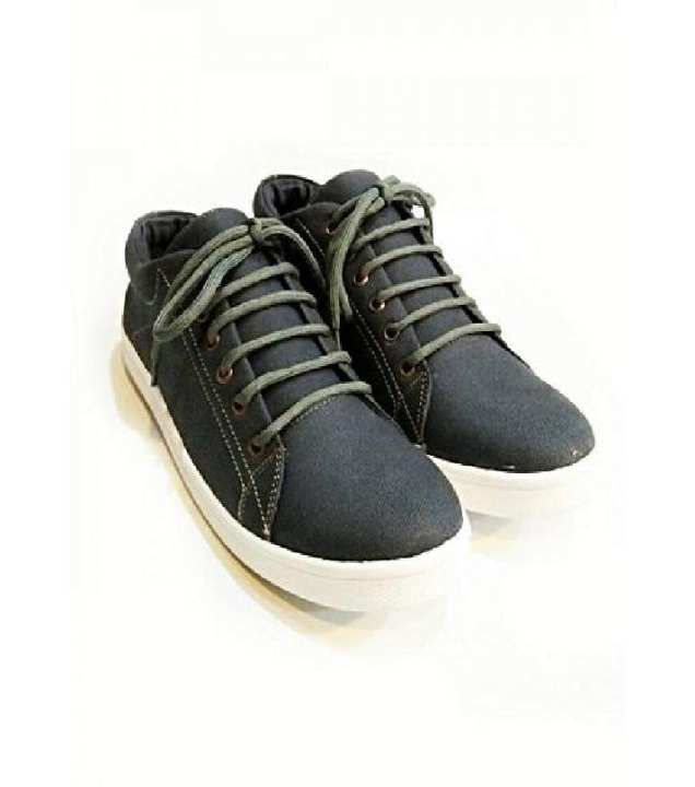 Grey Canvas Stylish Sneakers-Unisex