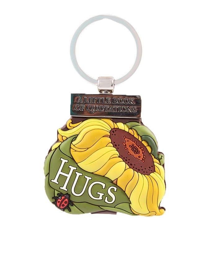 A Little Book Of Quotations: Hugs Keychain - Multi Color