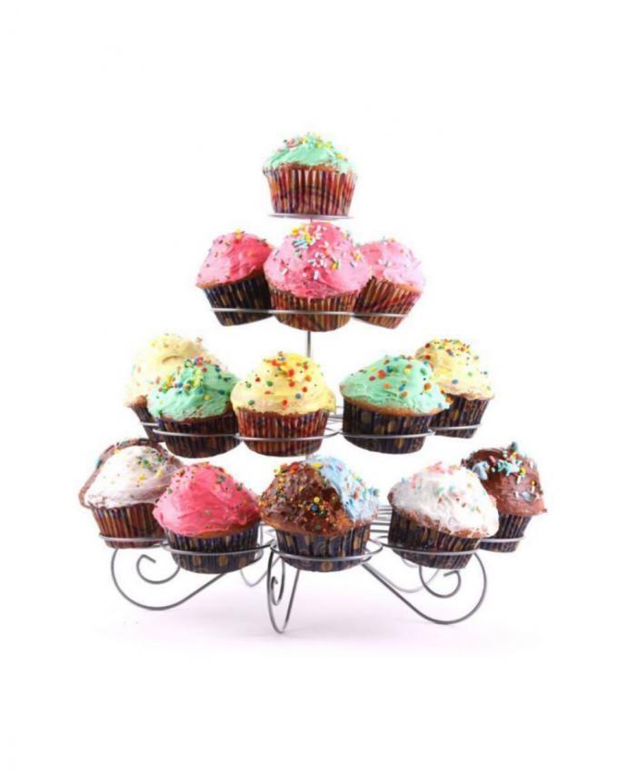 23 Pcs Cupcake Stand - Silver