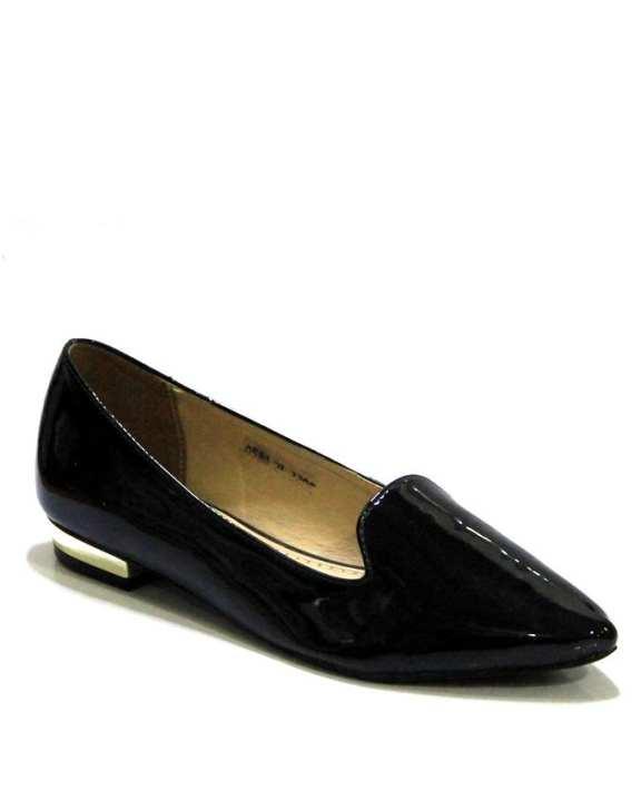 0580-2L-3322 Black Upper Pattern Sole Sheet Shoes For Women