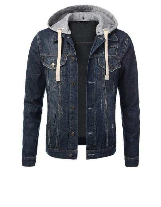 Blue Denim Jacket For Men - Djgh-01