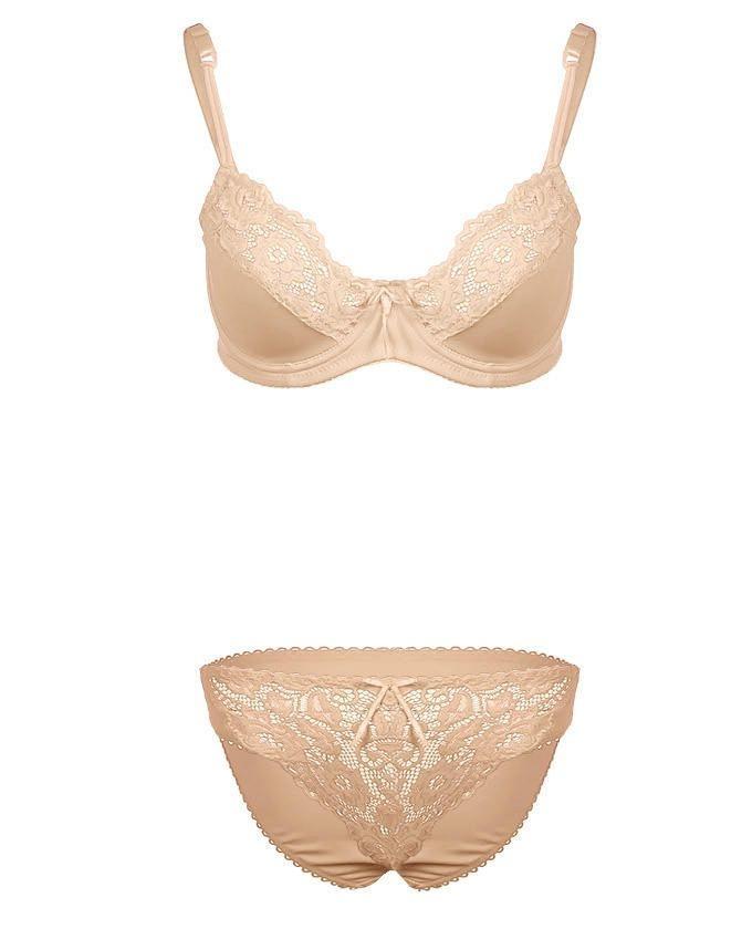 Skin Wired Bra & Panty Set For Women