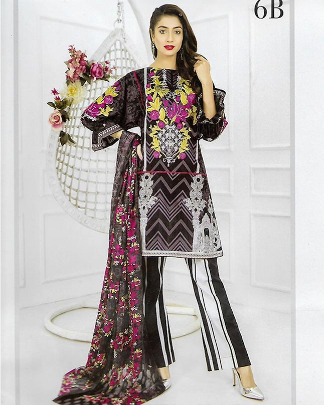 9008fb7e04 Minahil - Embroidered Lawn Collection For Women 2018 - 6-B - Unstitched