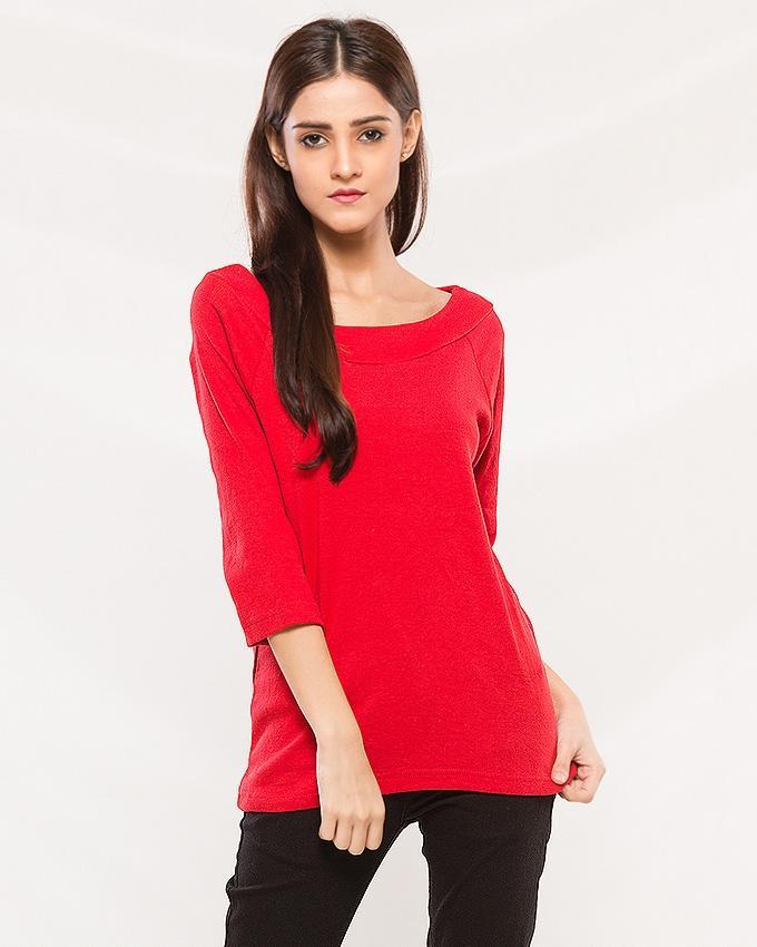 Red Cotton Shirt For Women - Ts01 Rd
