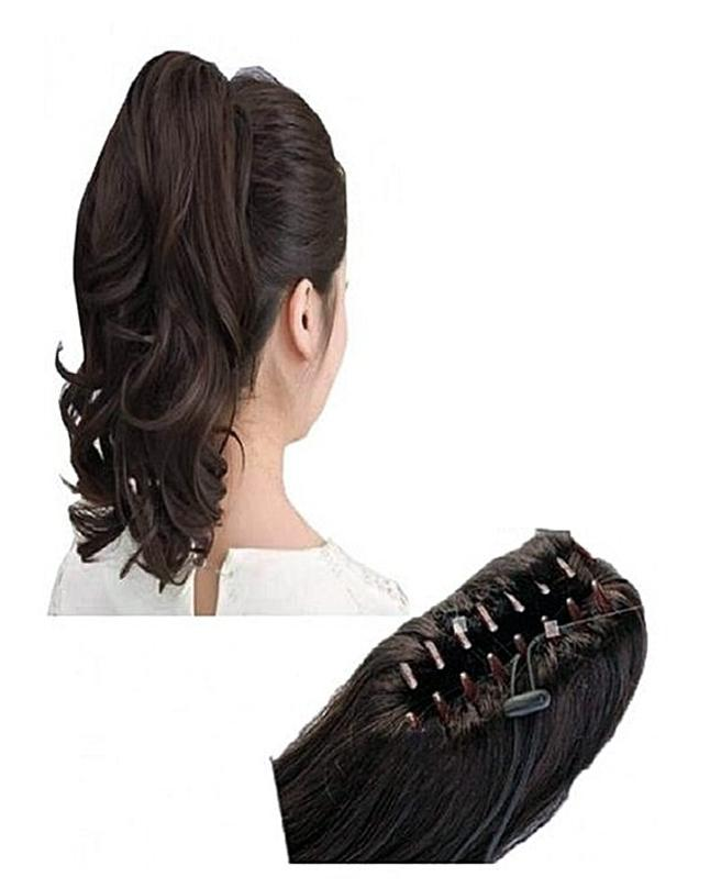Clip in Braid Hair Extension Natural Brown - Free Size