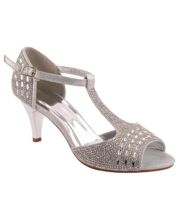 Silver Polyurethane Wozanotti Heels For Women - L28835