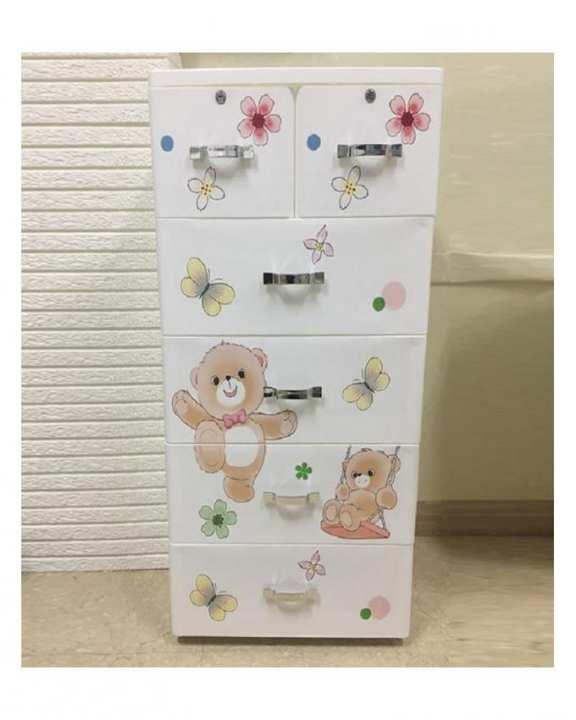 Dancing Bear 5 Layer Storage Drawer Cabinet Kids Furniture.