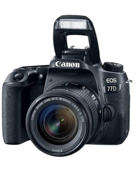 EOS 77D DSLR Camera with 18-55mm Lens - Black