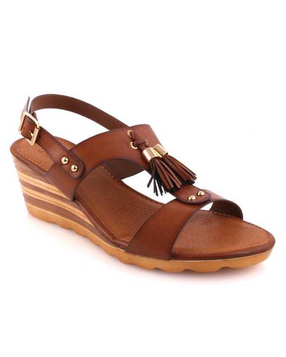 Jenn Low Heel Wedge Sandals for Women L29536