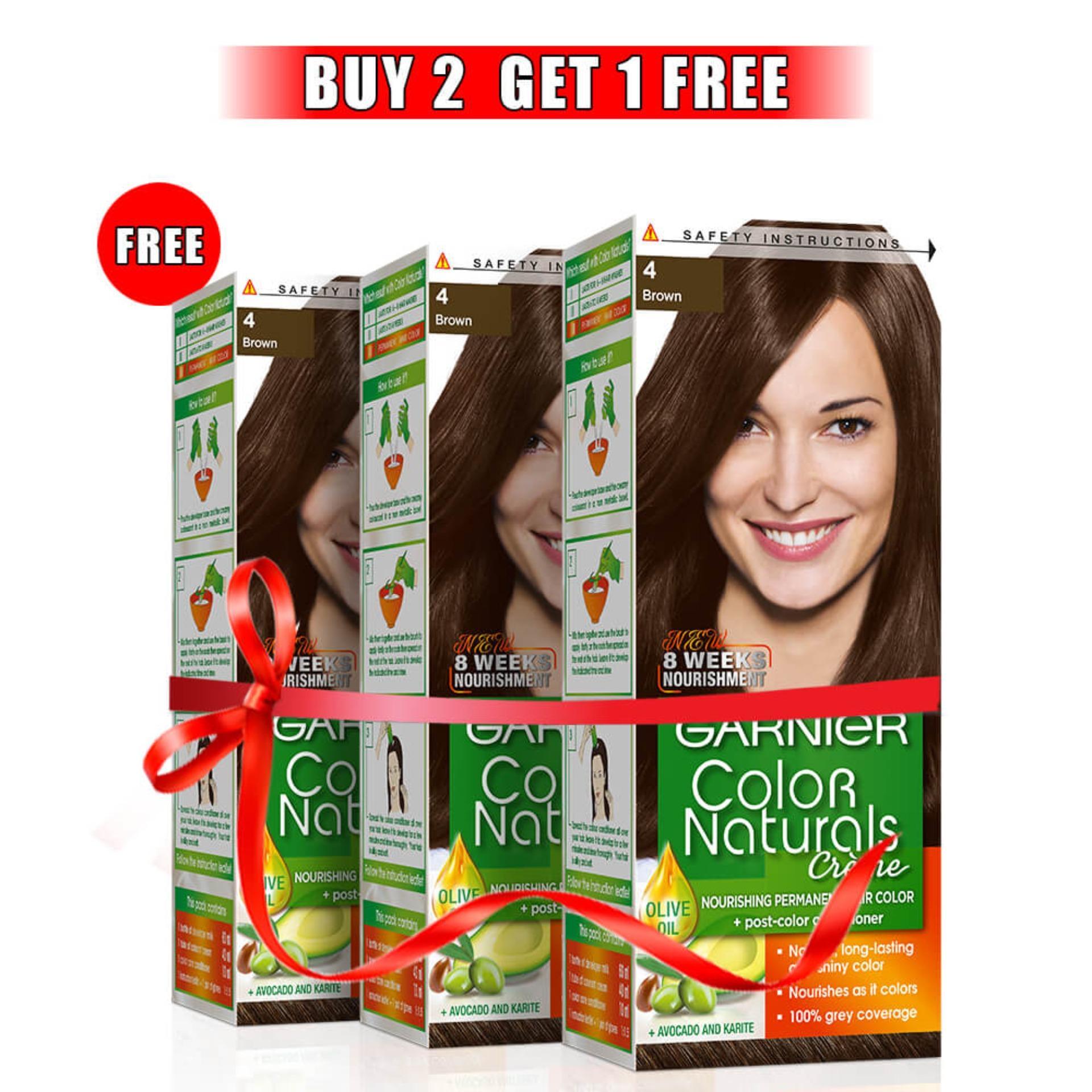 Buy Garnier Hair Coloring At Best Prices Online In Pakistan Color Naturals 2 Get 1 Free 4 Brown