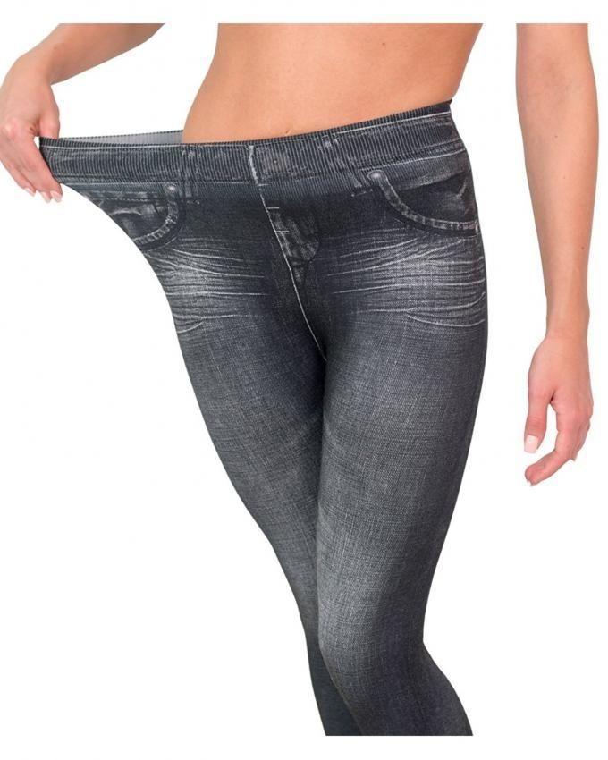 Slim 'N' Lift Jeans - Black Comfortable Slimming Shapewear Jeggings